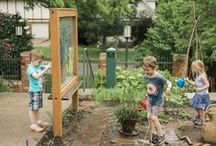 Art and Creativity / Nature Explore Outdoor Classrooms are wonderful venues to inspire the creation of artwork. As children work with natural objects and different art materials, they strengthen their skills in classification and close observation.