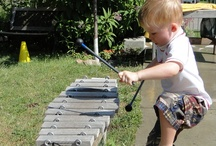 Music / Wonderful ways to use and introduce musical instruments to children in outdoor classrooms and playgrounds.
