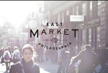 East Market / The seventh art conducted an in-depth qualitative analysis of the downtown Philly area – which included several on-site visits – and proposed to turn the nine-block project into an open air market. A naming exploration yielded the name East Market for the development.