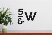 Fifth & West / A project designed by two seminal Austin architecture firms and situated in an ideal location in downtown Austin turned to The Seventh Art to help put its new residential concept on the map. The Seventh Art was responsible for the brand strategy, logo design, building signage, web site, and digital brochure.