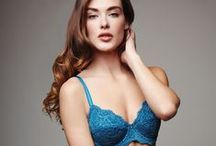 Celestial - F/W 2015 / Beautiful aquamarine-hued Celestial Blue adds a heavenly touch to our lace bras.
