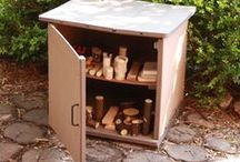 Storage Ideas / Making materials readily accessible to children at their level will help ensure a more complete learning experience in the outdoor classroom.