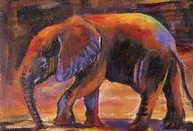 Elephant Art / We has so many elephants come back as unique paintings I thought we should have an ELEPHANT ART BOARD.