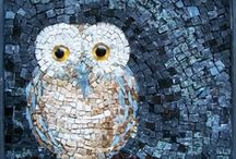 A+ GLASS-stained glass/mosaics / by Jeanne Delcambre
