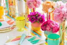 LET'S PARTY / Table settings and entertaining. Party decor. Tablescapes.
