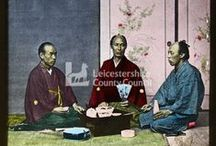 Victorians visit Japan / #Victorian-era tinted #lanternslides depicting #Japan as it was near the turn of the 20th century, from the collections of the Record Office for Leicestershire, Leicester and Rutland