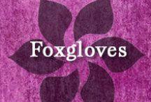 Gumpaste-Fondant Foxgloves / A Collection of Gumpaste-Fondant Foxglove Flowers