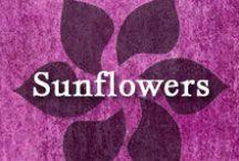 Gumpaste-Fondant Sunflowers / A Collection of Gumpaste-Fondant Sunflowers