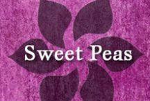 Gumpaste-Fondant Sweet Peas / A Collection of Gumpaste-Fondant Sweet Pea Flowers