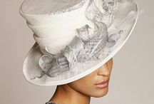 Hats for Social Occasions #2 -White, Cream