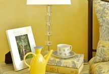 Yellow Decor / Decorating with Yellow Home Decor