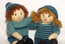 Dolls / knitted, sewn and inspirational dolls. knitting patterns, sewing patterns for all sorts of toy dolls / by Claire Fairall Designs
