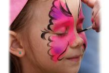 CRAFT -FACE PAINTING supplies- designs - how to