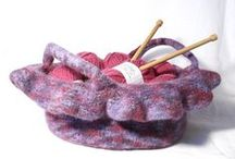 Pattern- Felt bags knitting /  Great felted bags, purses and totes for you to knit / by Claire Fairall Designs