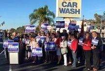 Juan M. Hidalgo Jr. for Congress / Juan M. Hidalgo Jr. Announces Candidacy for Congress on November 24, 2015 at National City Car Wash.