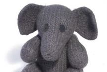 elephants / knitting patterns and inspiration / by Claire Fairall Designs