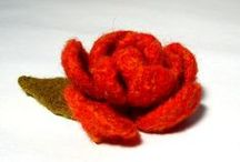Flowers / knitting patterns and creative ideas to make felt flower brooches. / by Claire Fairall Designs