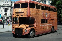 JUSTSO, MCM and London / Just So art directed and project managed the creation of a souped up old bus, with monogrammed exterior, plush carpeting, glass presentation cases, a dancing pole and a champagne bar for MCM.