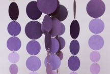 Purple crafts and decor