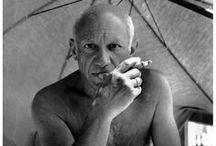 Pablo Picasso - Cubismo / El cubismo fue un movimiento artístico desarrollado entre 1907 y 1914, nacido en Francia y encabezado por Pablo Picasso, Georges Braque y Juan Gris. Es una tendencia esencial, pues da pie al resto de las vanguardias europeas del siglo XX. No se trata de un ismo más, sino de la ruptura definitiva con la pintura tradicional. / by Marlen Soto Barquero