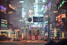 Cyberpunk / Arts about cyberpunk themes - characters, landscapes, electronic theme as tatoo etc.