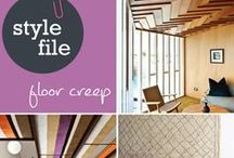 Style File: Floor Creep / Timber floors may have started the trend, but we've noticed that soft flooring materials are also starting to emerge on walls and ceilings in residential interior design. Which look do you love – timber or soft flooring? http://www.choicesflooring.com.au/blog/floor-creep