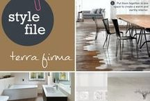 Style File: Terra Firma / The 'Terra firma' tile trend is catching on fast. To translate, 'Terra firma' is when tiles mimic other natural materials in the home. To re-create the look, view our tile range at http://www.choicesflooring.com.au/tiles-flooring/
