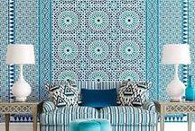 Marokańskie płytki ceramiczne / Ceramiczne panele naścienne z Maroka wzornictwem nawiązujące do bogatej tradycji mazaikowej zellige