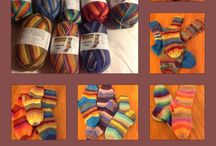 Ihan itsetehtyjä villasukkia/ Socks ....knitting by myself / I love socks and knitting....I'm in heaven in good yarnshop...