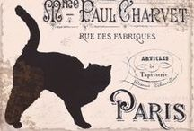 Vintage Cat Art / I like cats but I didn't know till I started in pinterest just how much they've been liked throughout history