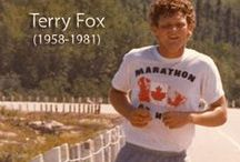 Terry Fox / This amazingly brave young man was always a hero of mine…so this being  the 35th.year..yes..35 years of his courageous run…I wanted to start a board as my memory board to him…I have done the Terry Fox run many times as a walker...…I write this April…2015
