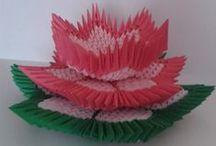 3D origami lotus flower