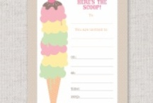 Pastel Ice Cream Party / This pretty pastel ice cream party is perfect for a summertime celebration.  Add in fresh home made lemonade and a swim in the pool and everyone will be feeling refreshed.