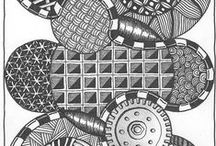 Zentangle / painting / tekenen / doodles / by Esther Lange