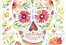 Day of the Dead / Art inspired by the sugar skull tradition.