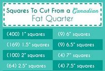 Quilting Knowledge / Tips and tricks for quilting