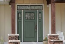 Paint Colors for Front Doors / Add curb appeal by painting your front door a unique color. Choose a color that complement the style of the home and the rest of the home's exterior elements. A pop of a bright and warm hue on the front door can help to give your home a warm, welcoming feeling.