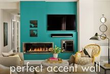 Accent Wall Paint Color Inspiration / Perfect Accent Wall Paint Colors - The best way to introduce color onto your walls without committing to all 4 walls, is to paint 1 wall a different color. You can choose your accent wall by seeing which wall is most noticeable in the room – it is usually the wall with a fireplace or a set of beautiful windows or the wall that your bed is up against. Discover inspiration from our perfect accent wall paint colors that will be sure to add depth to your space.