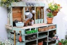 Pallet ideas, inside and outside / How to use pallets inside and outside