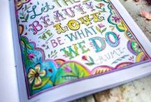 Coloring Books for Adults / We love to color! Coloring books we love, articles about the mindful and mediation benefits of coloring, and free sample coloring pages.