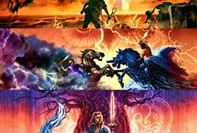 World of Rick Riordan / I'm a really big fan of this author, so I saved all of the fan edits his fans made in this board, so credits to them. ❤️❤️❤️❤️