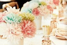 Paper flowers, material flowers and pretty bouquets