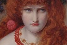 Red-haired beauty in painting