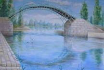 Peintures Murales / Fresque, ornementation ou trompe l'oeil. Sur devis. Infos : www.virginiewibaux.com