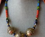 'Tribal' Style Necklaces / Necklaces made with vintage and contemporary trade beads