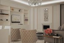 Project townhouse / Модернизация дизайна в таунхаусе. Современный стиль интерьера, акцентами являются кресла в классическом стиле и люстра.