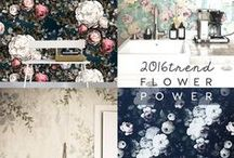 Floral TREND. ITALIANBARK / Floral home trend. Floral wallpaper and decor interior trend for 2016, on ITALIANBARK- interior design blog