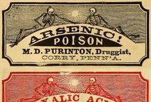 Vintage Ads labels