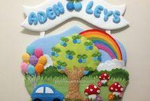 Bebek-Çocuk Odası Kapı Süsleri