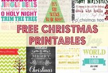 Free Christmas Printables / Christmas printables from decorations to Christmas party menus.